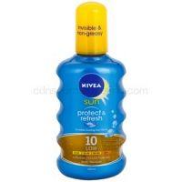 Nivea Sun Protect & Refresh neviditeľný sprej na opaľovanie SPF 10  200 ml