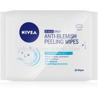 Nivea Visage Pure Effect hĺbkovo čistiace peelingové obrúsky 3v1  20 ks