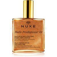 Nuxe Huile Prodigieuse Or multifunkčný suchý olej s trblietkami na tvár, telo a vlasy 100 ml