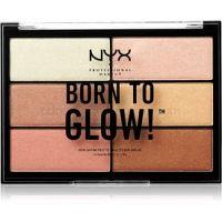 NYX Professional Makeup Born To Glow paletka rozjasňovačov odtieň 01 6 x 4,8 g