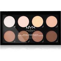 NYX Professional Makeup Highlight & Contour PRO kontúrovacia paletka na tvár  8 x 2,7 g