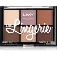 NYX Professional Makeup Lid Lingerie paletka 6prechodových tieňov odtieň 01 Lingerie Shadow Palette 6 x 1,37 g g