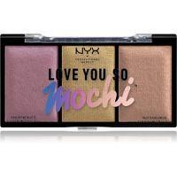 NYX Professional Makeup Love You So Mochi paletka rozjasňovačov odtieň 01 Lit Life 3 x 5,4 g