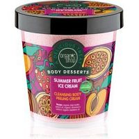 Organic Shop Body Desserts Summer Fruit Ice Cream čistiaci peelingový krém  450 ml