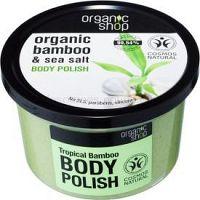 Organic Shop Organic Bamboo & Sea Salt energizujúci telový peeling  250 ml