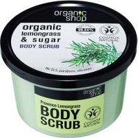 Organic Shop Organic Lemongrass & Sugar Telové peelingy pre ženy 250 ml jemný peeling na telo