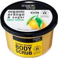Organic Shop Organic Orange & Sugar tonizačný peeling na telo 250 ml