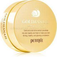 Petitfee Gold & Snail hydrogélová maska na očné okolie s extraktom zo slimáka 60 ks