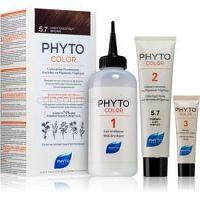 Phyto Color farba na vlasy bez amoniaku odtieň 5.7 Light Chestnut Brown
