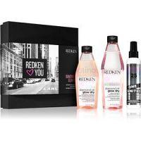 Redken Diamond Oil Glow Dry darčeková sada (pre matné vlasy)