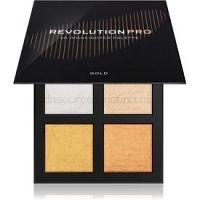 Revolution PRO 4K Highlighter Palette paleta rozjasňovačov odtieň Gold 4 x 4 g