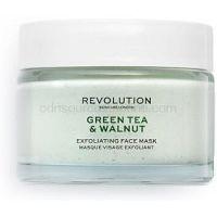 Revolution Skincare Green Tea & Walnut exfoliačná čistiaca pleťová maska 50 ml