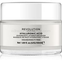 Revolution Skincare Hyaluronic Acid nočná hydratačná maska na tvár  50 ml