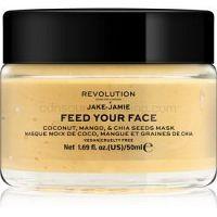 Revolution Skincare Jake-Jamie Coconut, Mango & Chia Seed rozjasňujúca pleťová maska 50 ml