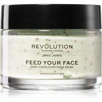 Revolution Skincare X Jake-Jamie Mint Choc Chip osviežujúca a upokojujúca maska s mätou priepornou 50 ml