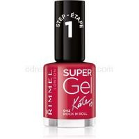 Rimmel Super Gel By Kate gélový lak na nechty bez použitia UV/LED lampy odtieň 042 Rock n Roll 12 ml