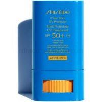 Shiseido Sun Care Clear Stick UV Protector WetForce opaľovací krém v tyčinke SPF 50+ 15 ml
