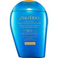 Shiseido Sun Care Expert Sun Aging Protection Lotion Plus WetForce opaľovacie mlieko na tvár a telo SPF 50+ 100 ml