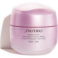 Shiseido White Lucent Overnight Cream & Mask nočný hydratačný krém a maska proti pigmentovým škvrnám 75 ml