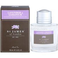 St. James Of London Lavender & Geranium gél po holení pre mužov 100 ml