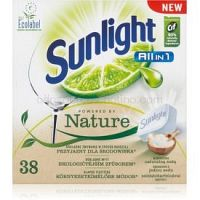 Sunlight All in 1 Powered by Nature tablety do umývačky ECO 38 ks