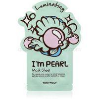 TONYMOLY I'm PEARL rozjasňujúca plátienková maska  1 ks