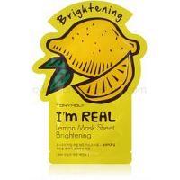 TONYMOLY I'm REAL Lemon plátenná maska s rozjasňujúcim účinkom 1 ks