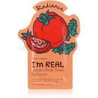 TONYMOLY I'm REAL Tomato plátenná maska pre rozjasnenie a vitalitu pleti  1 ks