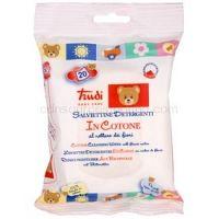 Trudi Baby Care bavlnené čistiace vlhčené obrúsky s nektárom z kvetov 20 ks