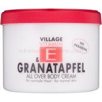 Village Vitamin E Pomegranate telový krém bez parabénov 500 ml