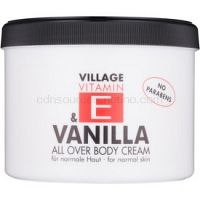 Village Vitamin E Vanilla telový krém bez parabénov 500 ml