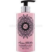 Vivian Gray Aroma Selection Raspberry & Rose mlieko na ruky a telo 400 ml
