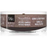 Woodwick Sand & Driftwood votívna sviečka 31 g s dreveným knotom