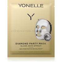 Yonelle Diamond Party Mask plátenná maska s hydratačným a revitalizačným účinkom 3 ks