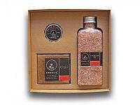 Angelic Darčeková krabička Angelic kúpeľová soľ ružové pohladenie