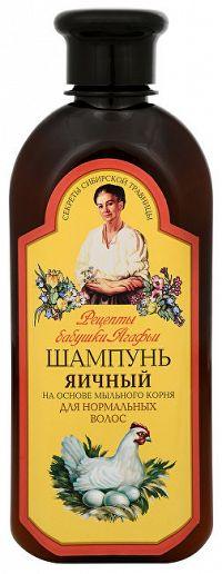Babushka Agafia Šampón pre normálne vlasy s vaječným proteínom 350 ml