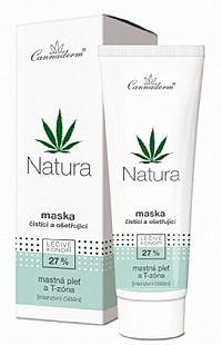 Cannaderm Cannaderm NATURA čistiace a ošetrujúce maska 75 g