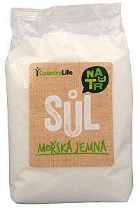 Country Life Morská soľ jemná z Atlantiku 1 kg