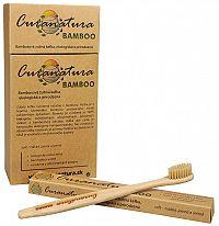 Curanatura Zdravá zubná kefka Curanatura 12 ks Bamboo - zelená volba