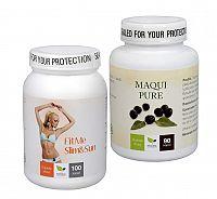Doporučená kombinace produktů Na Slnečné ochranu - Maqui Pure + FitMe Slim & Sun