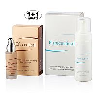 Herb Pharma Pureceutical - intenzivní hloubková čistící pěna 125 ml + CC ceutical krém proti vráskám jemně krycí 30 ml (1 + 1 zdarma)