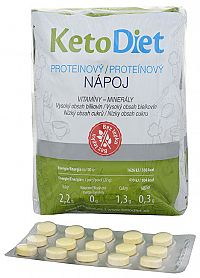 KetoDiet Proteínový nápoj 7 x 27 g + príchute Vanilka 15 tbl.
