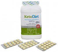 KetoDiet Proteínový nápoj na 1 týždeň 1 000 g + príchute Jahoda 3 x 15 tbl.