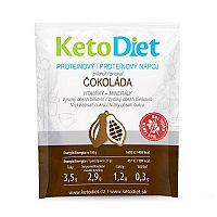 KetoDiet Proteínový nápoj príchuť čokoláda 7 x 27 g