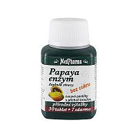 MedPharma Papaya enzým - cmúľanie pastilky bez cukru s príchuťou broskyne 30 tbl. + 7 tbl. ZD ARMA