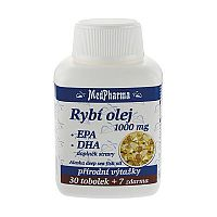 MedPharma Rybí olej 1000 mg+EPA+DHA tabliet 37