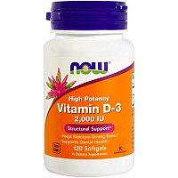 NOW Vitamin D-3 2000iu 120 tobolek