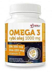Nutricius Omega 3 Rybí olej 1000 mg EPA 330 mg / DHA 220 mg 150 kapslí