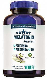Pharma Activ Melatonín Premium Mučenka Medovka B6 100 tablet