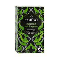 PUKKA Bio čaj Supreme matcha green Výběrová matcha 20 x 1,5 g